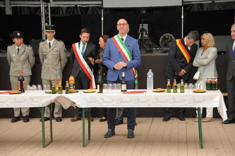 14 juillet Au chapiteau - Allocution du Sindaco de Gualdo Tadino