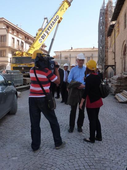 Interview à L'Aquila