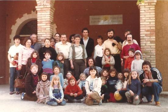 1981-04- Classe du Rancy à Gualdo