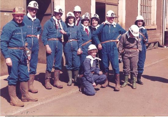1983 - Les Gualdais visitent de la Mine