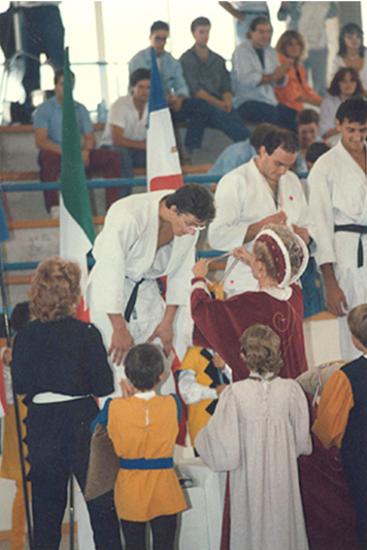 1985 - Le club de Judo à Gualdo Tadino